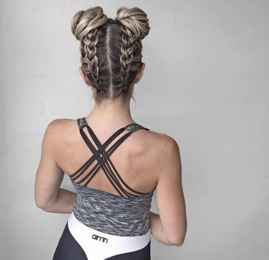 upside down braided top knot hair styles