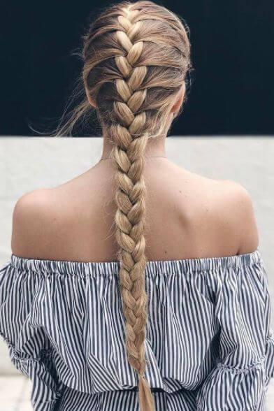 simple french braid hair style