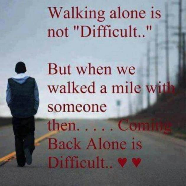 alone love quote with pic