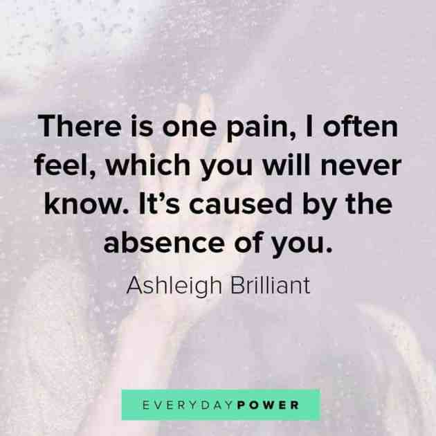 pain of love quote with picture