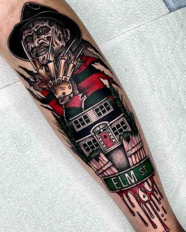 Freddy Krueger Nightmare on Elm St Tattoo Design
