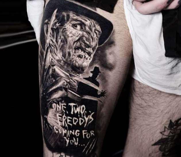 realistic Freddy Krueger tattoo design
