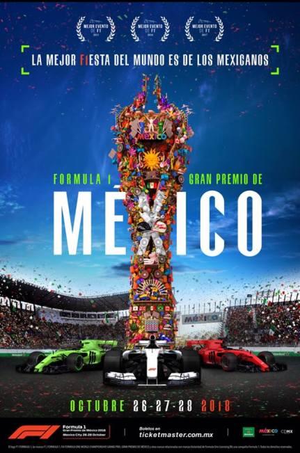 F1 México 2018 - Poster