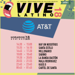 Vive Latino - AT&T - Horarios Domingo