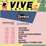 Vive Latino - Doritos - Horarios Sábado