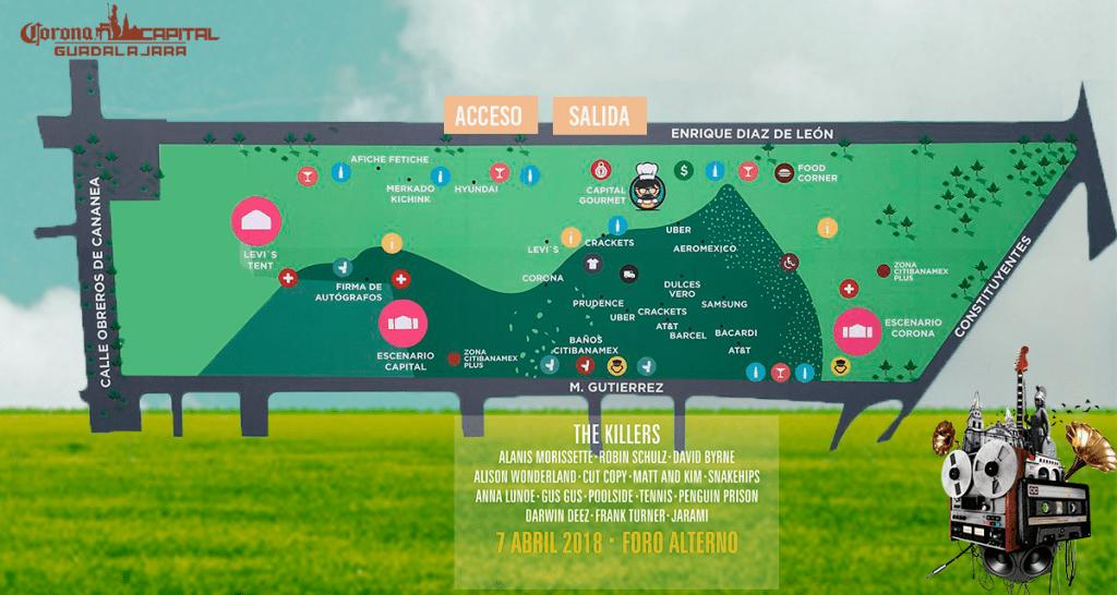 Corona Capital GDL - Mapa