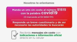 Lanzan App y SMS para atender COVID-19