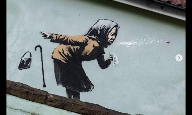 El 'estornudo' de Banksy