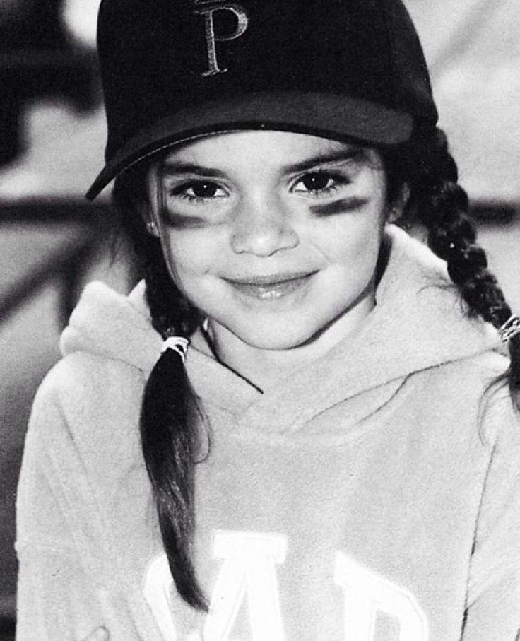 Kendall Jenner childhood photo one at pinterest.com