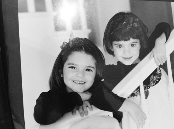 Kendall Jenner childhood photo two at chhory.com