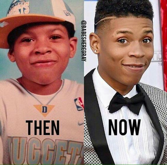 Bryshere Y. Gray childhood photo one at Pinterest.com