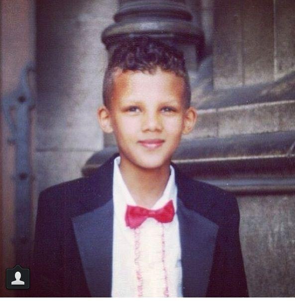 Stromae Kindheitsoto eins bei Pinterest.com