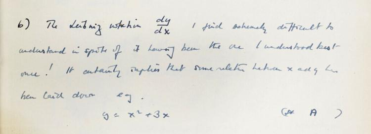 Extract from Alan Turing's notebook
