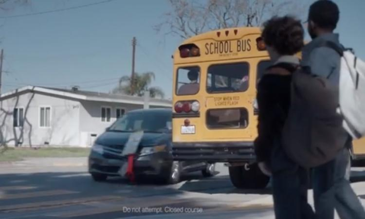 Lindsay Lohan stars in the Esurance Super Bowl advert