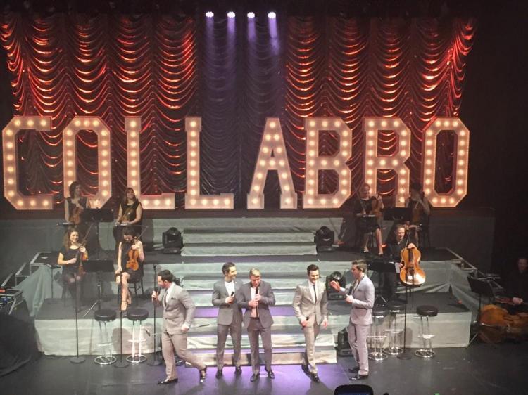 Collabro perform at the London Palladium