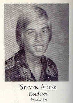 Steven Adler yearbook photo one at Pinterest.com at Pinterest.com
