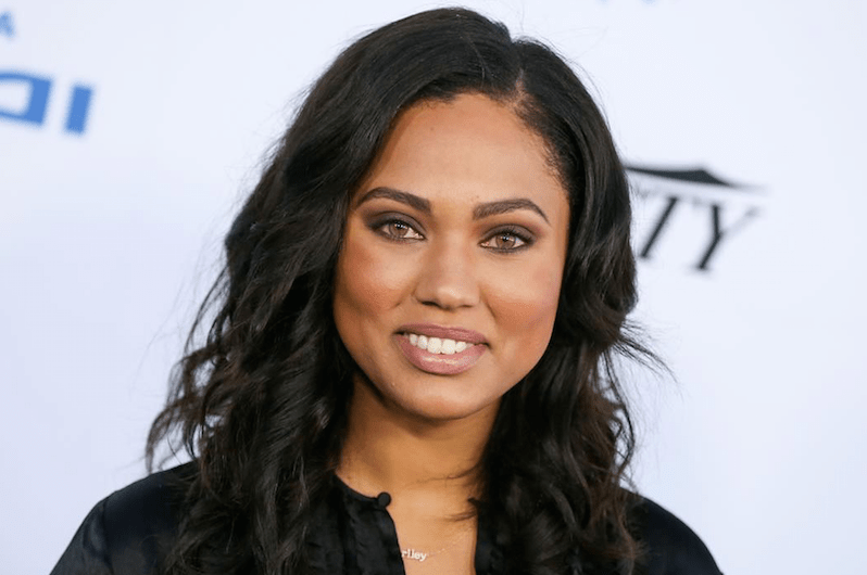 Ayesha Curry - the beautiful, sexy, charming,  tv-personality, actress, model, chef,   with Afro-American, Chinese, Jamaican, Polish,  roots in 2018