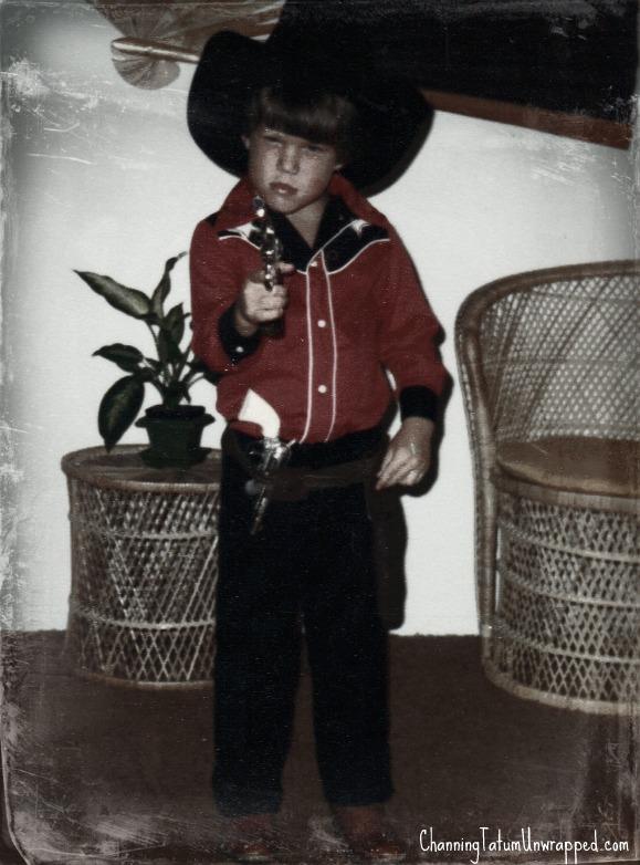 Channing Tatum, foto de infância um em pinterest.com