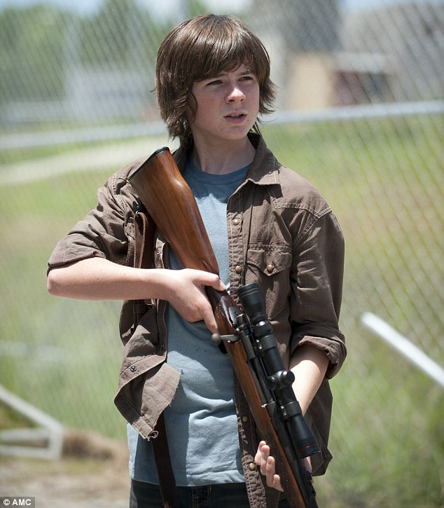 Chandler Riggs - foto más antigua tres en dailymail.co.uk