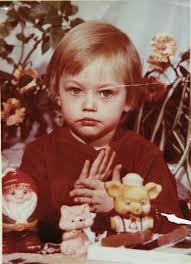 Sasha Pivovarova childhood photo one at Au.pinterest.com