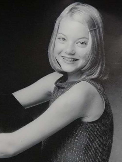 Emma Stone childhood photo one at mykidsite.com