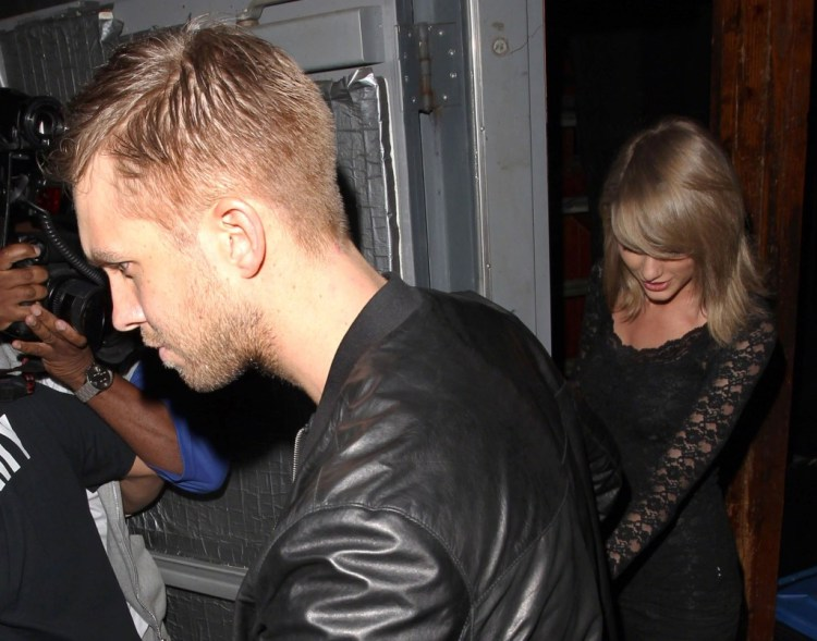 Taylor Swift with boyfriend Calvin Harris