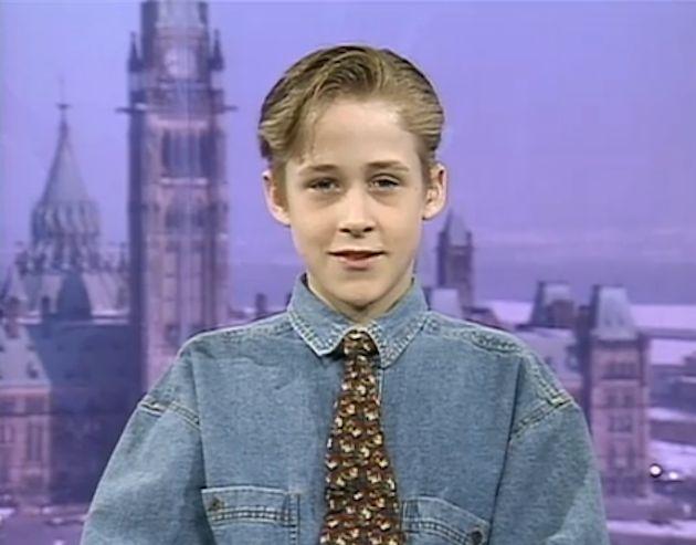 Ryan Gosling, foto de infância um em Pinterest.com