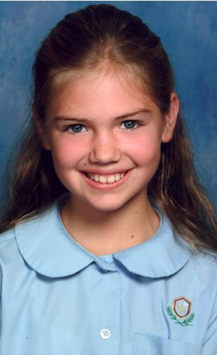 Kate Upton kindertijd foto twee via pinterest.com
