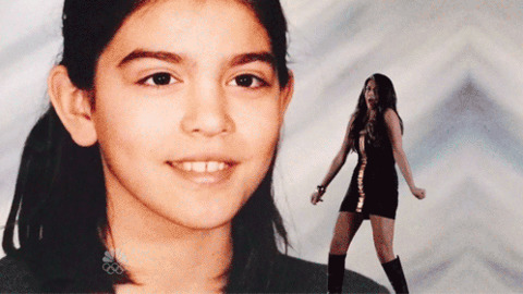 Cecily Strong childhood photo one at Giphy.com