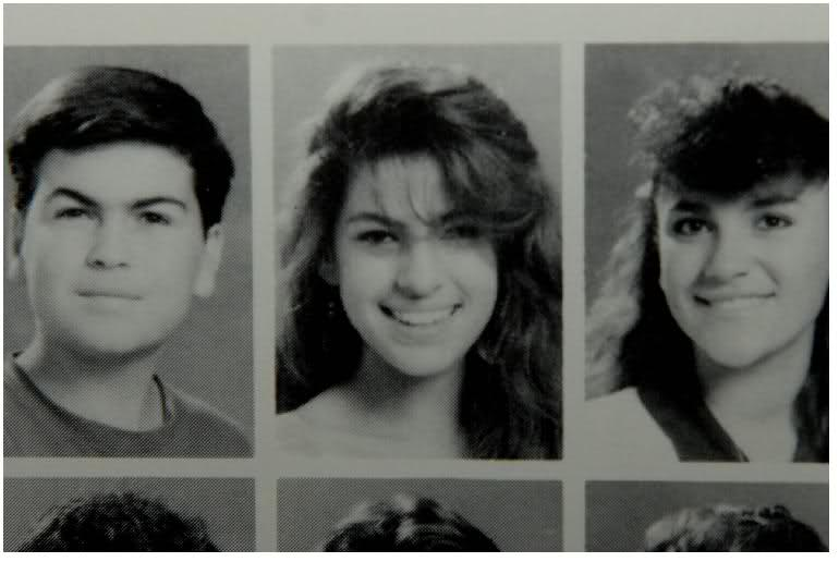 Eva Mendes yearbook photo one at gossiprocks.com at gossiprocks.com