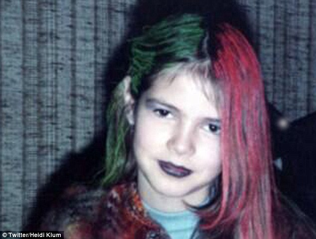Heidi Klum childhood photo two at dailymail.co.uk