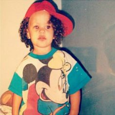 Sarah Jeffery, foto de infância dois em pinterest.com