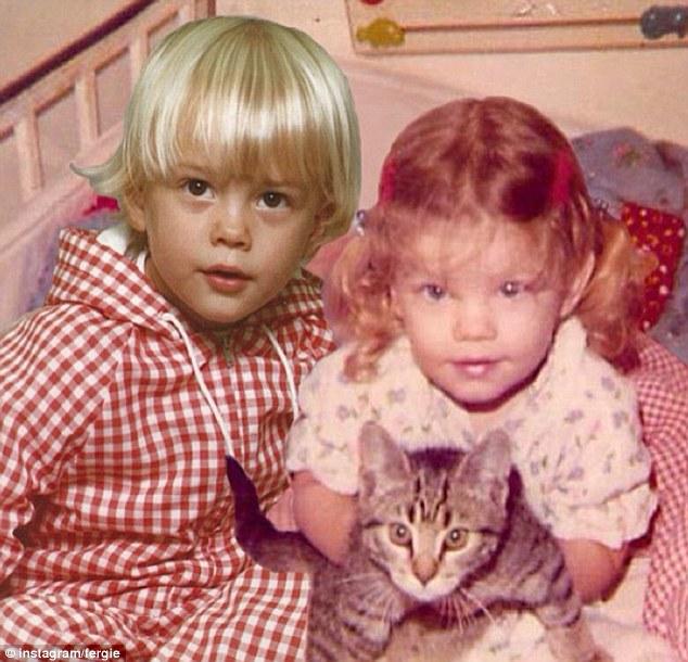 Josh Duhamel childhood photo one at dailymail.co.uk