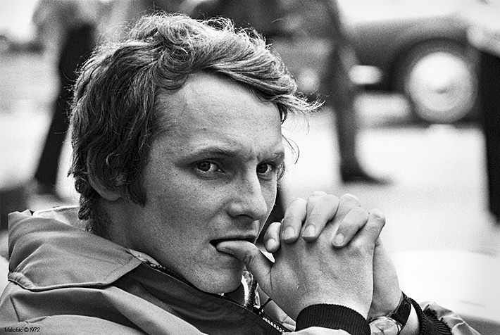 Niki Lauda younger photo one at Grandprixhistory.org