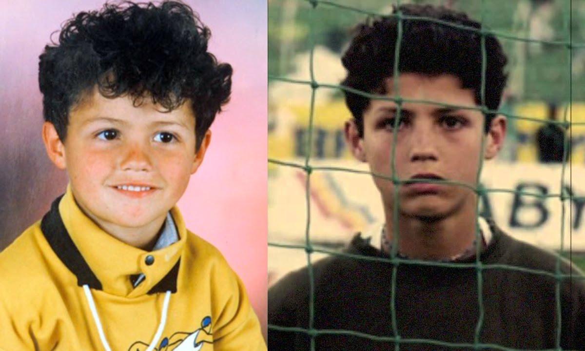 Cristiano Ronaldo, foto de infância um em youtube.com