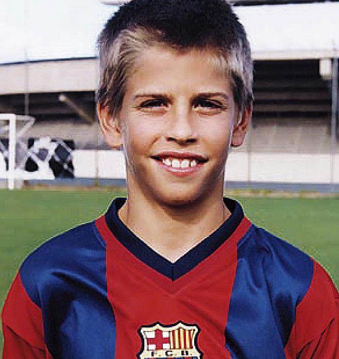 Gerard Piqué childhood photo two at Footballplayerschildhoodpics.blogspot.ro