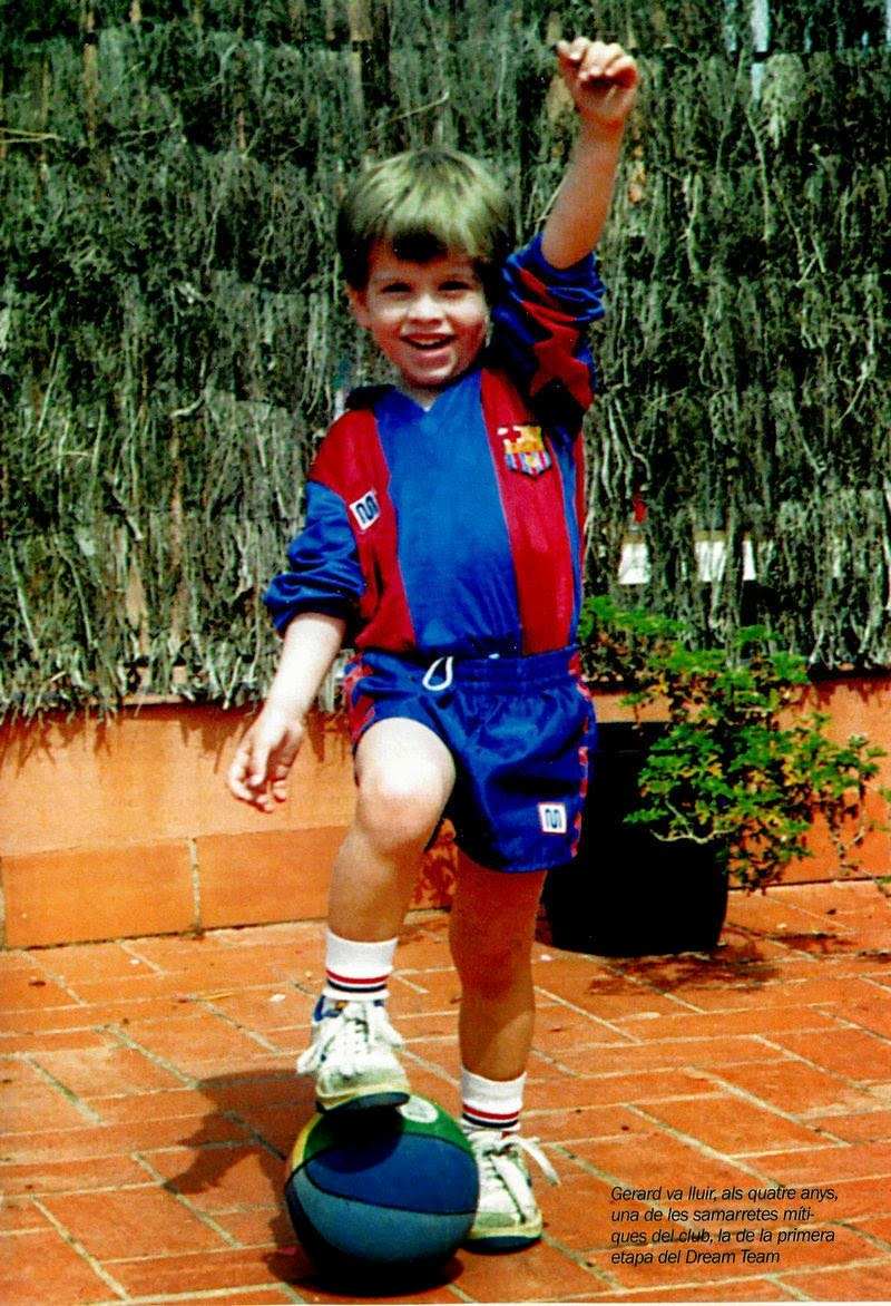 Gerard Piqué kindertijd foto een via Footballplayerschildhoodpics.blogspot.ro