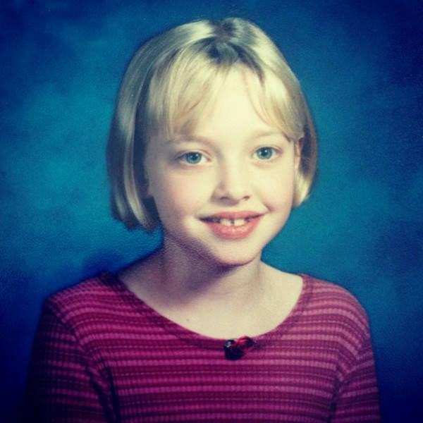 Amanda Seyfried kindertijd foto een via eonline.com