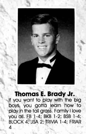 Tom Brady yearbook photo one at si.com at si.com