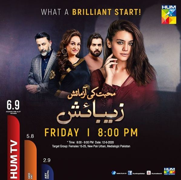 Zebaish Drama Cast, Story, Timings, Teaser, Episode, Promo Review, Drama OST Song and Main Lead Role is Zara Noor Abbas, Asad Siddiqui and Babar Ali