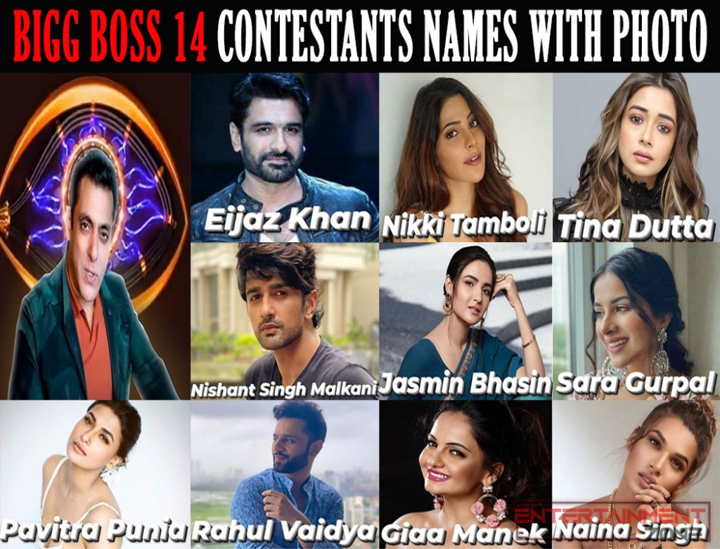 Bigg Boss 14 Contestants Name and Photos