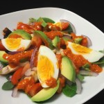 Chicken Egg and Avocado Salad