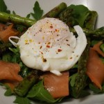 Salmon, Asparagus and Poached Egg Salad
