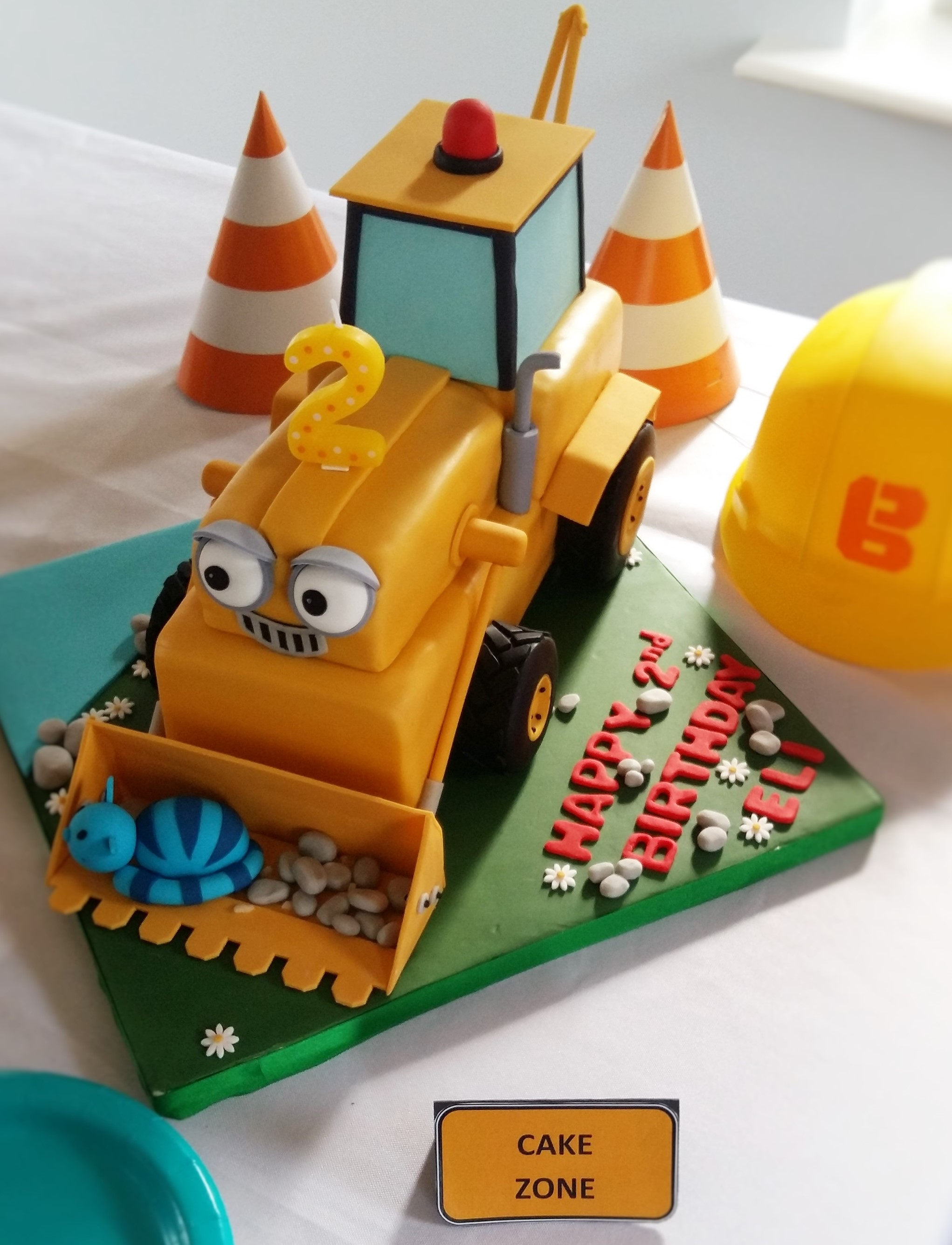 Admirable Construction Themed Birthday Party Elis Bob The Builder 2Nd Funny Birthday Cards Online Elaedamsfinfo