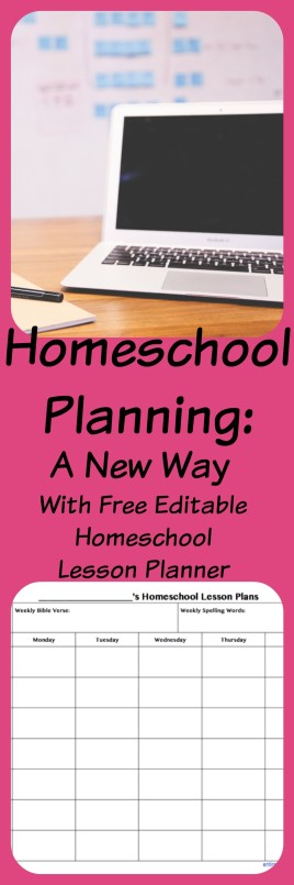 Are you looking for an easy way to Plan Homeschool lessons for your kids? Here is a FREE resource for you to plan your homeschool lessons on the computer! Click here to download this file now!