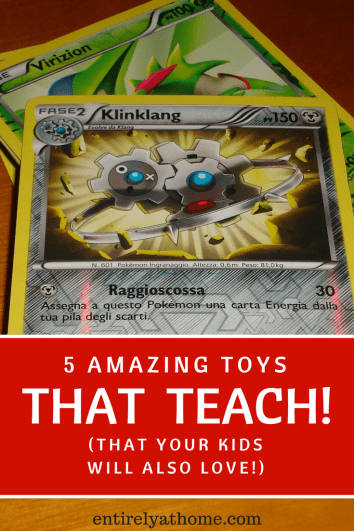 Looking for more ways to get your kids learning? Click here for 5 great toys that will encourage your kids to learn while they play!
