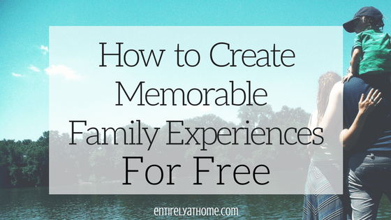 Are you looking for ways to have some fun with your kids without spending tons of money? Click here for some ideas for making wonderful memories with your kids!