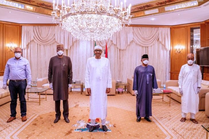 Buhari without face mask