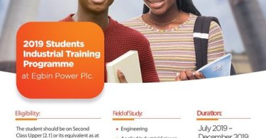 Apply Egbin Power Internship Students Industrial Training Programme 2019
