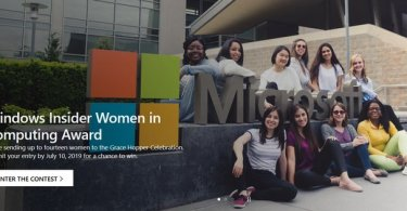 Application Form For Windows Insider Women in Computing Award 2019 Is Out (Funded to the Grace Hopper Celebration in USA)